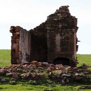 Ruin of an old stone cottage