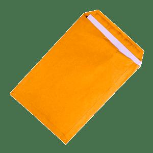 Open, large, yellow envelope